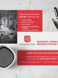 mainstream marketing portfolio salvation army windsor kettle cards