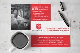 mainstream marketing portfolio salvation army windsor kettle cards