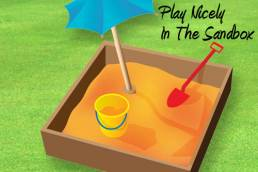 play nicely in the sandbox