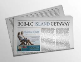 mainstream marketing portfolio boblo national post newspaper ad