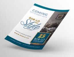 mainstream marketing portfolio boblo save the date flyer