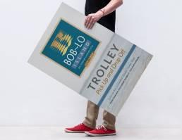 mainstream marketing portfolio boblo trolley sign