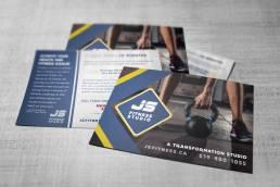 mainstream marketing portfolio js fitness postcards