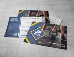mainstream marketing portfolio js fitness postcards
