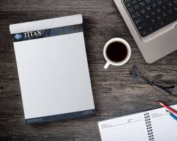 mainstream marketing portfolio titan contracting notepads